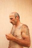 mężczyzna dymienie Zdjęcie Royalty Free