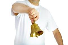 Mężczyzna dzwonienia dzwon obraz royalty free