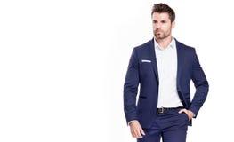 mężczyzna elegancki przystojny kostium zdjęcia royalty free