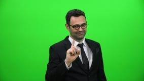 Mężczyzna falowania palec odrzucać Ręka gest mówić nie zdjęcie wideo