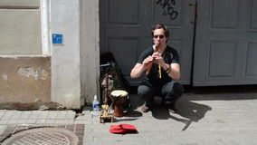 Mężczyzna fleta drymby sztuka zbiory