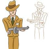mężczyzna gangster ilustracji