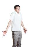 Mężczyzna gestykulować no zna Obraz Stock