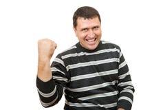 Mężczyzna gestykuluje znaka pełna satysfakcja Zdjęcie Stock