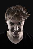 mężczyzna gniewny portret zdjęcie stock
