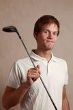mężczyzna golfowy set Obraz Royalty Free