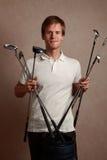 mężczyzna golfowy set Obrazy Royalty Free