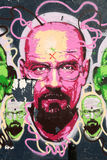 Mężczyzna graffiti na ścianie Obrazy Stock