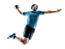 Mężczyzna handball gracz odizolowywający Zdjęcie Stock