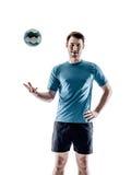 Mężczyzna handball gracz odizolowywający obrazy stock