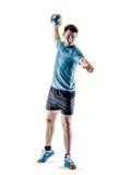 Mężczyzna handball gracz odizolowywający zdjęcia stock