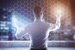 Mężczyzna honeycomb dyrekcyjne komórki Zdjęcie Stock