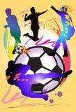 Mężczyzna i futbol sztuka Fotografia Royalty Free