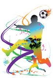 Mężczyzna i futbol sztuka Zdjęcia Stock