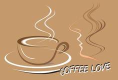 Mężczyzna i kawy sztuka Obrazy Royalty Free