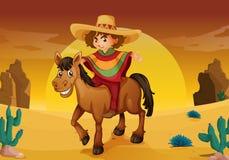 Mężczyzna i koń ilustracji