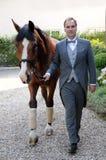 Mężczyzna i koń Obrazy Stock