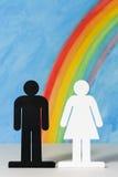 Mężczyzna i kobiet ikony z Zdjęcie Stock