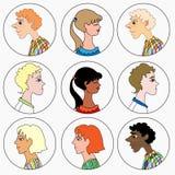 Mężczyzna i kobiet koloru wizerunku wektoru ilustracja Zdjęcia Stock