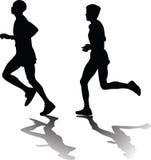 Mężczyzna i kobieta jako biegacz Obrazy Royalty Free