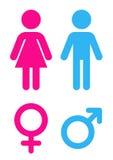Mężczyzna i kobieta - Szyldowa toaleta royalty ilustracja