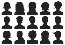 Mężczyzna i kobiety avatars Zdjęcie Stock