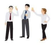 Mężczyzna i kobiety clink szampana szkło Obrazy Royalty Free