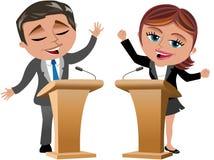 Mężczyzna i kobiety mówcy ilustracji