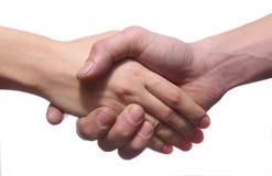 Mężczyzna i kobiety ręki ja Zdjęcia Stock
