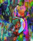 Mężczyzna i kobiety sztuki abstrakcja Zdjęcia Royalty Free