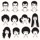 mężczyzna i kobiety twarz Obraz Royalty Free