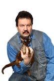 Mężczyzna i kot Obrazy Stock