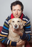 Mężczyzna i pies Zdjęcie Royalty Free