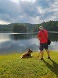 Mężczyzna i pies Zdjęcia Royalty Free