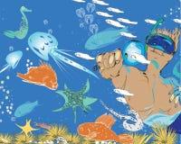 Mężczyzna I Snorkeling Fotografia Royalty Free
