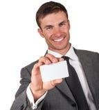 Mężczyzna i wizytówka Zdjęcie Royalty Free