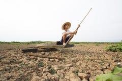Mężczyzna i zmiana klimatu zdjęcia stock