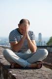 Mężczyzna ja modli się Bóg Fotografia Stock