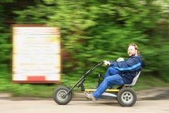 mężczyzna jazda zdjęcie royalty free