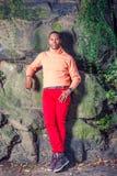Mężczyzna jesieni Przypadkowa moda w Nowy Jork zdjęcia stock