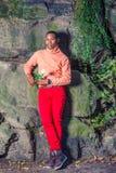 Mężczyzna jesieni Przypadkowa moda w Nowy Jork obraz stock