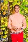 Mężczyzna jesieni Przypadkowa moda w Nowy Jork fotografia royalty free
