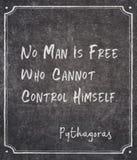Mężczyzna jest bezpłatny Pythagoras obraz stock