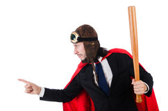 Mężczyzna jest ubranym czerwoną odzież Obrazy Royalty Free