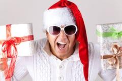 Mężczyzna jest ubranym Santa Claus odziewa Obraz Stock