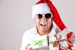 Mężczyzna jest ubranym Santa Claus odziewa Zdjęcia Stock