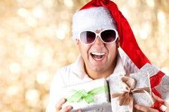 Mężczyzna jest ubranym Santa Claus odziewa Fotografia Stock