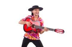 Mężczyzna jest ubranym sombrero Obraz Stock