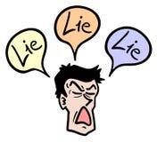 Mężczyzna kłamstwo royalty ilustracja