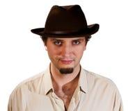 mężczyzna kapeluszowy portret Obrazy Royalty Free